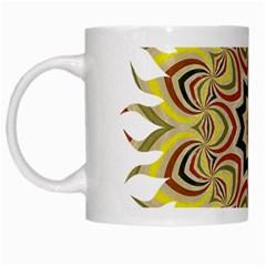 Abstract Geometric Seamless Ol Ckaleidoscope Pattern White Mugs