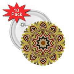 Abstract Geometric Seamless Ol Ckaleidoscope Pattern 2.25  Buttons (10 pack)