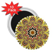 Abstract Geometric Seamless Ol Ckaleidoscope Pattern 2.25  Magnets (10 pack)