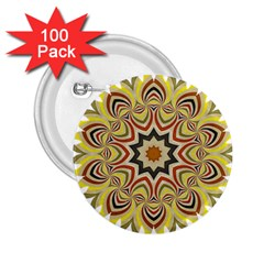 Abstract Geometric Seamless Ol Ckaleidoscope Pattern 2.25  Buttons (100 pack)