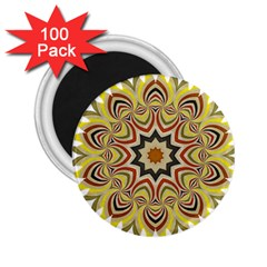 Abstract Geometric Seamless Ol Ckaleidoscope Pattern 2 25  Magnets (100 Pack)