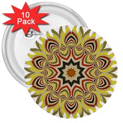 Abstract Geometric Seamless Ol Ckaleidoscope Pattern 3  Buttons (10 Pack)