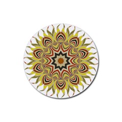 Abstract Geometric Seamless Ol Ckaleidoscope Pattern Rubber Coaster (Round)