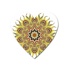 Abstract Geometric Seamless Ol Ckaleidoscope Pattern Heart Magnet