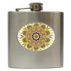 Abstract Geometric Seamless Ol Ckaleidoscope Pattern Hip Flask (6 oz)