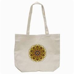 Abstract Geometric Seamless Ol Ckaleidoscope Pattern Tote Bag (Cream)