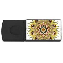 Abstract Geometric Seamless Ol Ckaleidoscope Pattern Usb Flash Drive Rectangular (4 Gb)