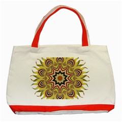 Abstract Geometric Seamless Ol Ckaleidoscope Pattern Classic Tote Bag (red)