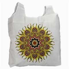 Abstract Geometric Seamless Ol Ckaleidoscope Pattern Recycle Bag (two Side)