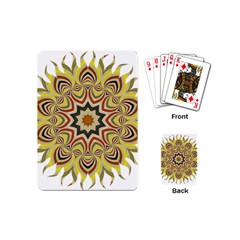 Abstract Geometric Seamless Ol Ckaleidoscope Pattern Playing Cards (mini)