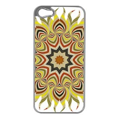 Abstract Geometric Seamless Ol Ckaleidoscope Pattern Apple iPhone 5 Case (Silver)