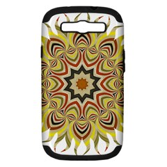 Abstract Geometric Seamless Ol Ckaleidoscope Pattern Samsung Galaxy S III Hardshell Case (PC+Silicone)