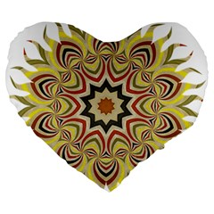 Abstract Geometric Seamless Ol Ckaleidoscope Pattern Large 19  Premium Heart Shape Cushions