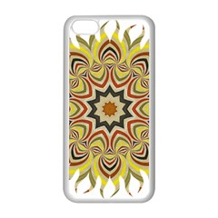 Abstract Geometric Seamless Ol Ckaleidoscope Pattern Apple iPhone 5C Seamless Case (White)