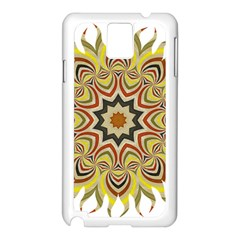 Abstract Geometric Seamless Ol Ckaleidoscope Pattern Samsung Galaxy Note 3 N9005 Case (White)