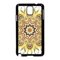 Abstract Geometric Seamless Ol Ckaleidoscope Pattern Samsung Galaxy Note 3 Neo Hardshell Case (Black)