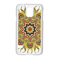 Abstract Geometric Seamless Ol Ckaleidoscope Pattern Samsung Galaxy S5 Case (White)
