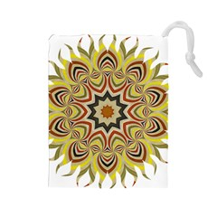 Abstract Geometric Seamless Ol Ckaleidoscope Pattern Drawstring Pouches (large)