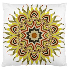 Abstract Geometric Seamless Ol Ckaleidoscope Pattern Large Flano Cushion Case (One Side)