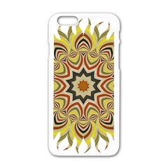 Abstract Geometric Seamless Ol Ckaleidoscope Pattern Apple Iphone 6/6s White Enamel Case