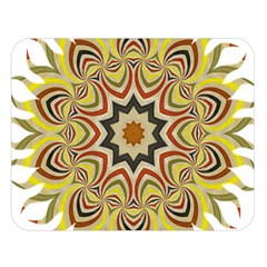 Abstract Geometric Seamless Ol Ckaleidoscope Pattern Double Sided Flano Blanket (Large)