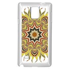 Abstract Geometric Seamless Ol Ckaleidoscope Pattern Samsung Galaxy Note 4 Case (White)