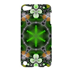 Green Flower In Kaleidoscope Apple Ipod Touch 5 Hardshell Case