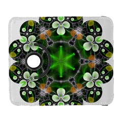 Green Flower In Kaleidoscope Galaxy S3 (Flip/Folio)