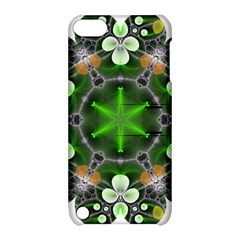 Green Flower In Kaleidoscope Apple iPod Touch 5 Hardshell Case with Stand
