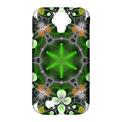 Green Flower In Kaleidoscope Samsung Galaxy S4 Classic Hardshell Case (pc+silicone)