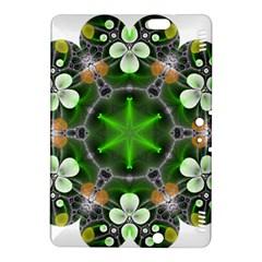 Green Flower In Kaleidoscope Kindle Fire HDX 8.9  Hardshell Case