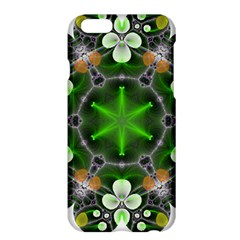 Green Flower In Kaleidoscope Apple Iphone 6 Plus/6s Plus Hardshell Case