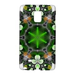 Green Flower In Kaleidoscope Galaxy Note Edge