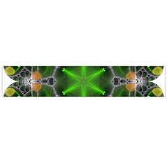 Green Flower In Kaleidoscope Flano Scarf (Large)