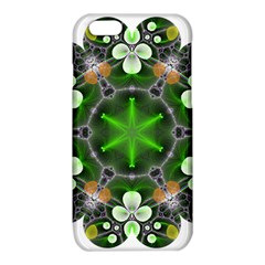 Green Flower In Kaleidoscope iPhone 6/6S TPU Case