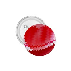 Red Fractal Wavy Heart 1.75  Buttons