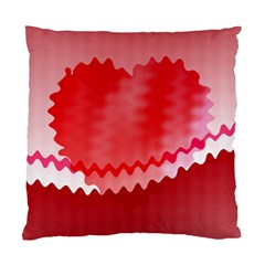 Red Fractal Wavy Heart Standard Cushion Case (One Side)