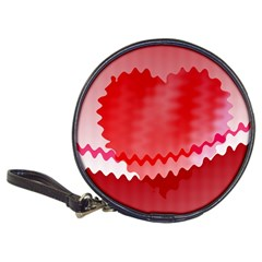 Red Fractal Wavy Heart Classic 20-CD Wallets