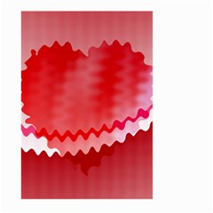 Red Fractal Wavy Heart Large Garden Flag (Two Sides)