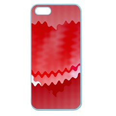 Red Fractal Wavy Heart Apple Seamless Iphone 5 Case (color)