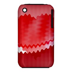 Red Fractal Wavy Heart iPhone 3S/3GS