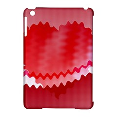 Red Fractal Wavy Heart Apple iPad Mini Hardshell Case (Compatible with Smart Cover)