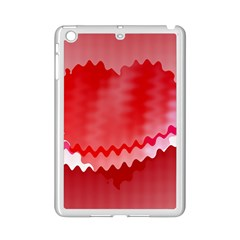 Red Fractal Wavy Heart Ipad Mini 2 Enamel Coated Cases