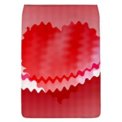 Red Fractal Wavy Heart Flap Covers (L)