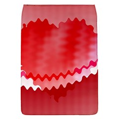 Red Fractal Wavy Heart Flap Covers (S)