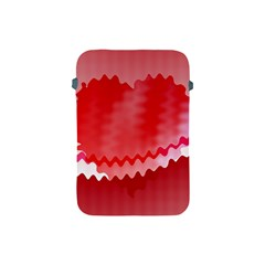 Red Fractal Wavy Heart Apple iPad Mini Protective Soft Cases