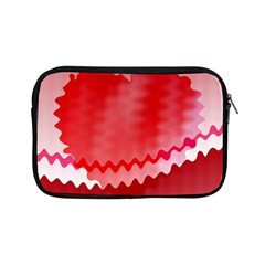 Red Fractal Wavy Heart Apple Ipad Mini Zipper Cases