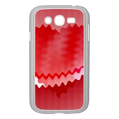 Red Fractal Wavy Heart Samsung Galaxy Grand DUOS I9082 Case (White)