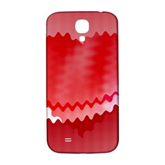 Red Fractal Wavy Heart Samsung Galaxy S4 I9500/I9505  Hardshell Back Case