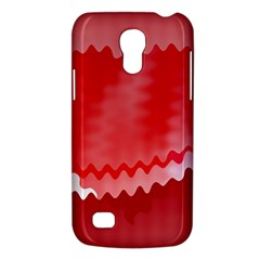 Red Fractal Wavy Heart Galaxy S4 Mini